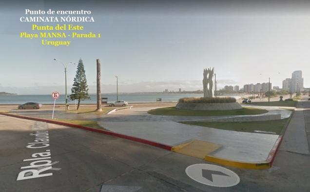 Pta del ESte PARADA 1 playa MANSA punto de encuentro caminata nordica