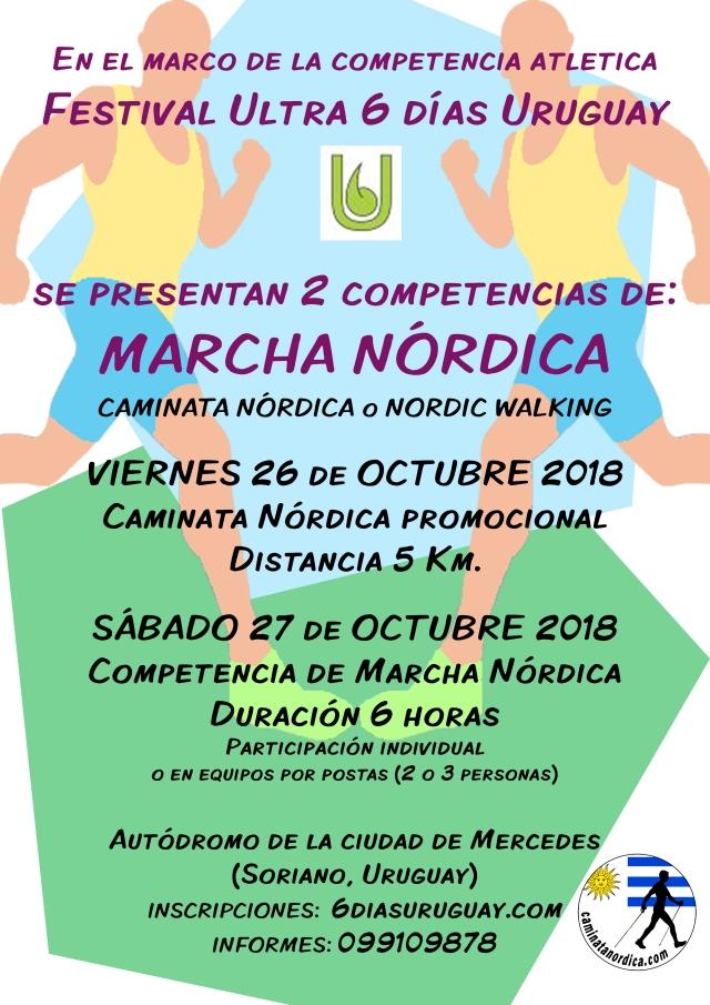 Afiche Festival Ultra Marcha Nordica 1a